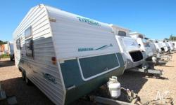 This great caravan comes with dual axle, 2 x 80: water