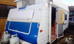 17' Pop-top caravan with roll-out awning and annexe
