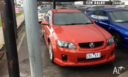 2006 Holden Commodore VE SS Orange 6 Speed Manual Sedan