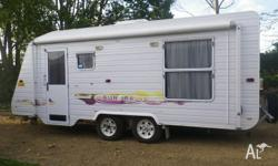 Compass caravan 4 berth, with a rear island bed and the