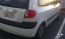 2007 Hyundai Getz, white, 2 door, 5 speed manual, very