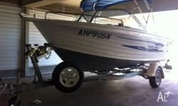 ALUMINIUM 5.1METRE QUINTREX RUNABOUT BOAT READY FOR