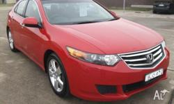 Flame Red 2008 Honda Accord Euro is comfortable and