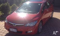 Up for sale is my 2008 Milano red Honda civic Sport.