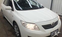 2008 Toyota Corolla ZRE152R Ascent White 4 Speed