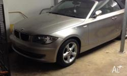 BMW 120i 2009 convertible Cream Leather seats Good