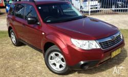 2009 Subaru Forester MY09 X Camillia Red 4 Speed Auto
