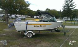 2010 5m Brooker runabout 60hp Yamaha 4 stroke sounder,