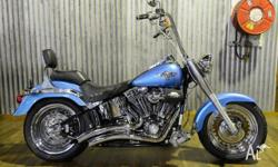 This 2011 Fatboy looks great in Cool Blue Pearl and