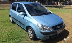 6/2010 Hyundai Getz sx model. 4 door, manual, 51300kms,