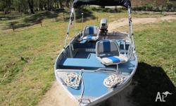 - 2010 Stacer 379 proline near new - 15 hp Mariner -