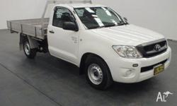 2010 Toyota Hilux GGN15R 09 Upgrade SR White 5 Speed