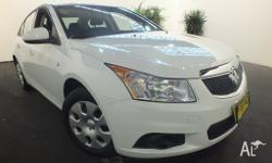 2011 Holden Cruze JH CD Heron White 6 Speed Automatic