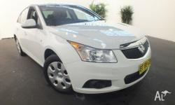 2011 Holden Cruze JH CD White 6 Speed Automatic Sedan
