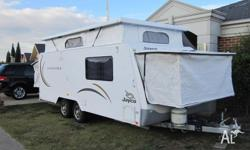 This is one of the caravans that Jayco displayed at the