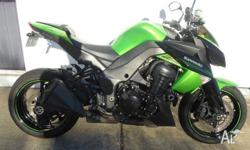 2011 Green Z1000 in standard trim with under 20,000km