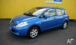 2011 built Nissan Tiida ST S3 hatch in Electric Blue