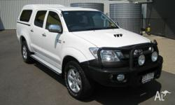 2011 Toyota Hilux KUN26R MY10 SR5 White 5 Speed Manual