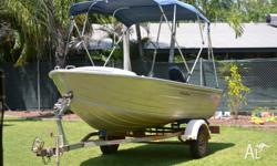 2012 4.29 Stacer Seahorse. -3Ohp Mercury Outboard
