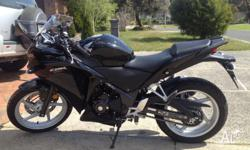 Black Honda CBR250R 2012 model Low KM's RWC Always