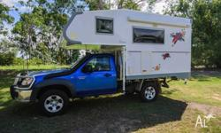 Top of the range Ozcape Charisma Camper on a Mazda