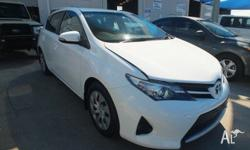 2013 Toyota Corolla ZRE182R Ascent White 7 Speed CVT