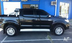 2013 Toyota Hilux SR5 dual cab, manual, black, tinted