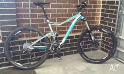 Great allmountain bike. Frame size Large. Only 6 months