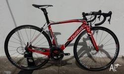 This Italian stunner is a 2 year old Wilier Cento 1 SR