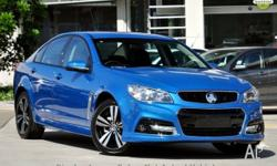 2015 Holden Commodore VF MY15 SV6 Storm Blue 6 Speed
