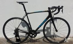 This Trek Emonda SLR (H1 geometry) road bike has made