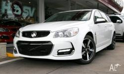 Only 12 km this Holden VF II SV6 wagon in Heron White