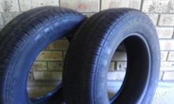 I have two 205/65/15 federal tyres for sale, with about