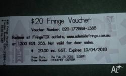 Unwanted Fringe Voucher. Can be redeemed at FringeTIX,