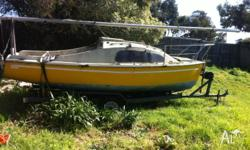 21 FT TRAILER SAILER ON TANDEM TRAILER, no rego or