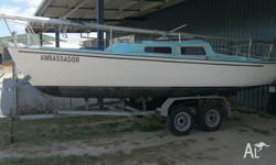 22 ft Boomaroo Saling Boat with tandem trailer ,Both