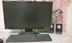 Up for sale is a 24inch computer with monitor in