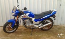 250cc Pagsta Motorcycle. low kms just used to get bike