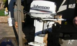 25hp johnson 2003 model long shaft out board,, i bought