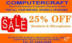 25% OFF OUR FULL RANGE OF HEADSETS AND MICROPHONES SAVE