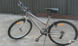 GREAT MOUNTAIN BIKE 6 SPEED NOBBY TYRES AND BRAKES SEAT