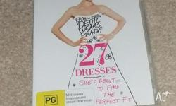 Hi, For Sale 27 Dresses DVD only $3-00. In excellent