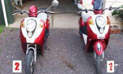 here are 2 adult modena.s.pedal assit scooters bike. no