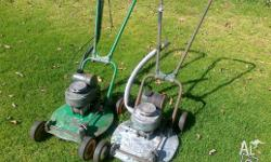 I have 2 Antique Victa lawnmowers. Number 18. Very