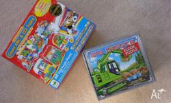 Toddler toys for sale: 1) Big Digger 2) Giant ABC & 123