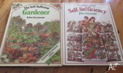TWO BOOKS ,LARGE.SELF SUFFICIENCY GARDENING.GOOD
