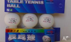 2 Box Table Tennis Double Fish Three 3 Stars Ping Pong