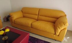 Two brand new leather sofas from Gascoine Inaloo. We