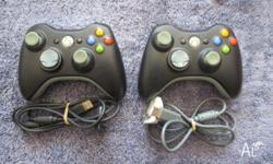 Im selling my 2 black XBOX 360 controllers. They are