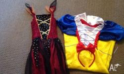 2 dresses for dress up 7-8 size Snow White comes with